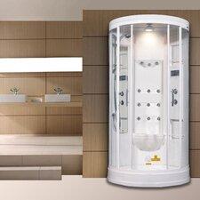 """Sliding Door 85"""" x 40"""" x 40"""" Steam Sauna Shower with Bath Tub"""