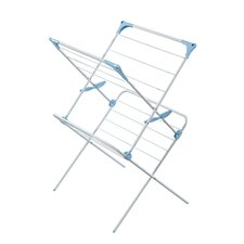 Two Tier Duo Concertina Indoor Drying Rack in White