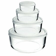 Frigoverre 8-Piece Round Food Storage Container Set