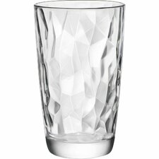 Diamond 16 oz. Cooler Highball Glass (Set of 6)