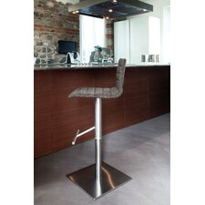 Jam Adjustable Height Swivel Bar Stool with Cushion