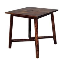 Char-Log Square Bar Table