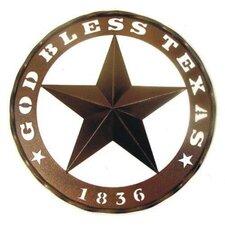 God Bless Texas and 1836 Star Wall Décor