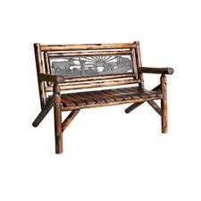 Char-Log Double Garden Bench