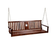 Charred Cut Out Star Porch Swing