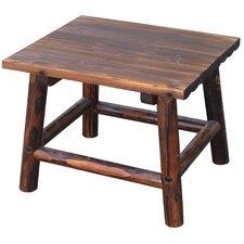 Char-Log Square End Table