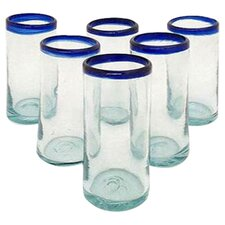 Javier and Efren Artisan Classic Hand Blown Drinkware Glass (Set of 6)