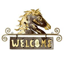 'Golden Horse Welcome' Sign