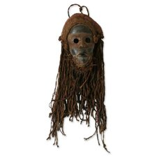 Handcrafted Jute Mask Wall Décor