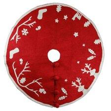 Wool Applique Christmas Tree Skirt