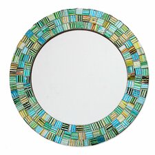 Artisan Crafted Round Glass Mosaic Mirror