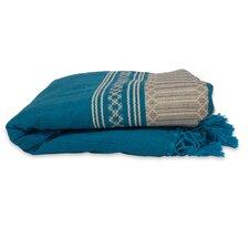 Hand Woven Striped Cotton Bedspread