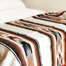 Artisan Crafted Striped Alpaca Wool Throw Blanket