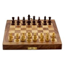 Fair Trade Decorative India Wood Chess Set Game