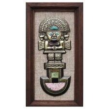 Ana Maria Enciso Tumi Deity Gemstone Inlay Bronze Wall Decor