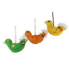 Fair Trade Bird Ornament (Set of 3)
