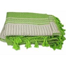 Carmen Ruiz Zapotec Hand-Woven Cotton Bedspread