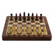 Rakesh Pathak Decorative Play Twice Wood Chess and Backgammon Set