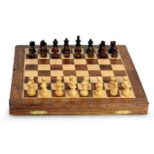 Rakesh Pathak Decorative Handcrafted Medium Wood Chess Set