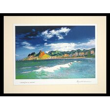 Leblon II Color Photograph on Color Mount Paper by Mauro Fichman Painting Print