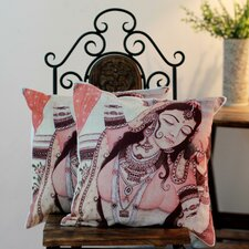 Majestic Dancer Cotton Pillow Cover (Set of 2)