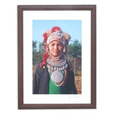 Young Thai Akha Girl by Akha Jim Framed Photographic Print