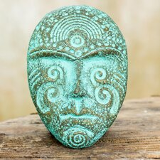 Face of Tradition I Tribal Style Handmade Recycled Paper Wall Décor