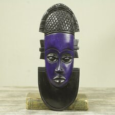 Queen Idia Hand-Carved and Painted African Mask Wall Décor