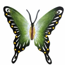 Alejandro de Esesarte Collectible Green Butterfly Steel Wall Decor