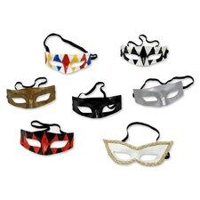 7 Piece Colombina Leather Masks Wall Décor Set