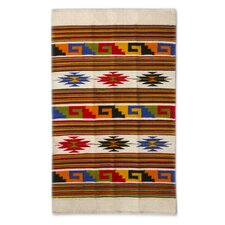 Hand-Woven Ivory/Brown Area Rug