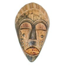 Bold Courage Akan Wood Mask Wall Décor