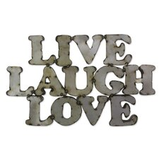 Live Laugh Love Handmade Rustic Steel Wall Sign Wall Décor