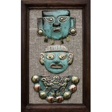 Moche Masks Copper and Bronze Wall Décor