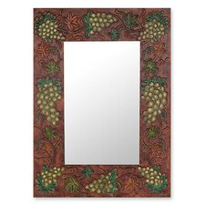 Italian Vineyard Leather Mirror