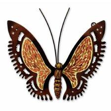 Sunshine Butterfly Glass Mosaic Steel Sculpture Wall Décor