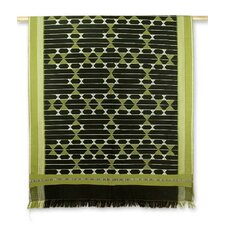 Geometrical Legacy Hand-Crafted Patterned Cotton Throw