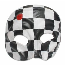 Harlequin Handcrafted Leather Carnaval Mask Wall Décor