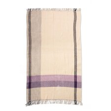 Jacaranda Breeze Handwoven Cotton Throw Blanket