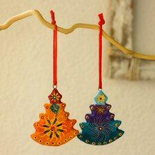 Jose Arriola 6 Piece Handmade Ceramic Tree Ornament Set