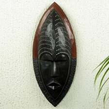Rita Addo Zakour Handcrafted African Wood Mask Wall Decor