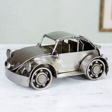 Mexico Handmade Recycled Auto Parts Metal Vintage Beetle Sculpture