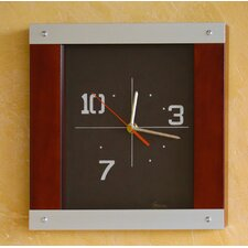On Time Modern Aluminum and Wood Wall Clock