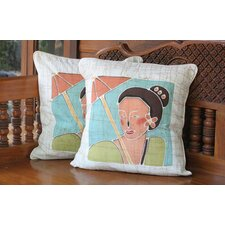 Eastern Women Cotton Pillow Cover (Set of 2)