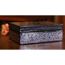 Floral Fantasy Hand Crafted Wood Decorative Box