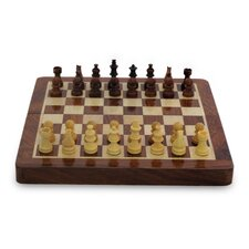 Double Strategy Wood Chess and Backgammon Set