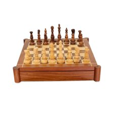 The Fun Begins Wood Chess and Backgammon Set