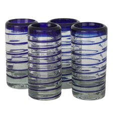Javier and Efren Spiral Shot Glass (Set of 4)