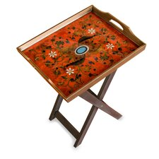 The Asunta Pelaez Reverse Painted Glass Folding Tray Table