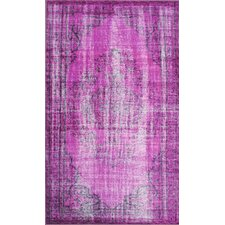 Remade Overdyed Violet Chroma Overdyed Style Area Rug
